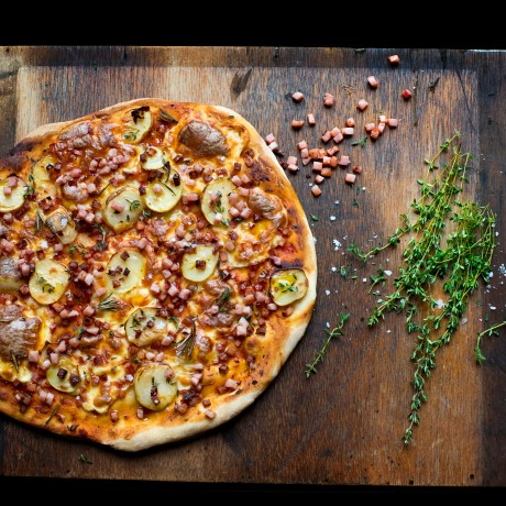 Potato Pizza with Bacon & Thyme
