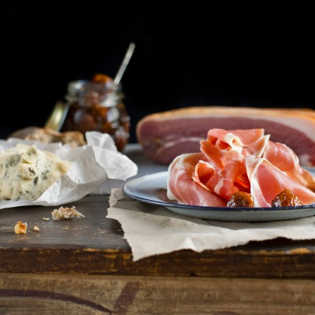 Don Prosciutto Platter with Marinated White Figs and Gorgonzola