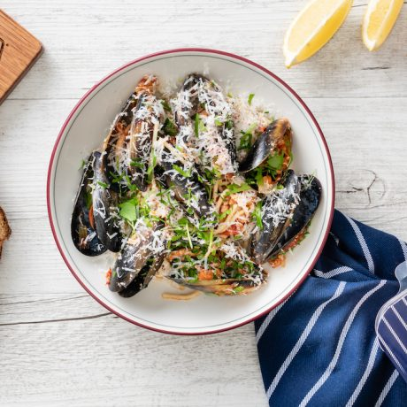 Portarlington Mussels and Tomato Spaghetti